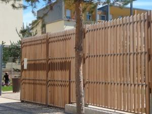 Clôture mixte bois / acier